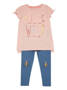 Multicoloured Jersey And Leggings Set (9 months - 6 years)
