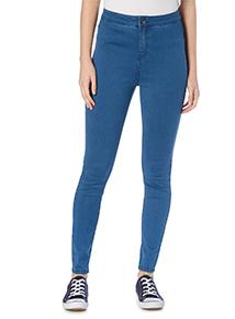 Mid Denim High Waist Skinny Jean