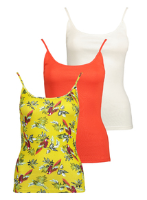 d3e671a03351aa Multicoloured Camisole Tops 3 Pack
