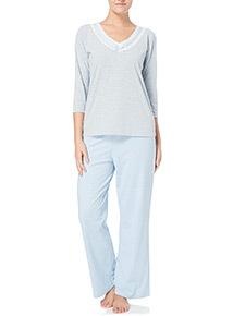 Lace Trim Pyjama Set