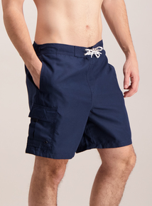 Navy Cargo Swim Shorts