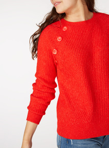 Ribbed Button Jumper