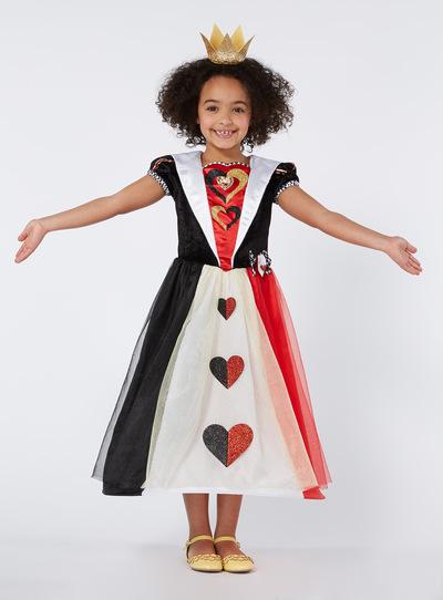 Fancy Dress Girls Multicoloured Disney Queen Of Hearts
