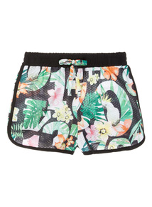 Black Floral Shorts (3-12 years)