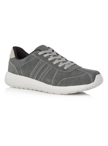 Grey Suede Leisure Shoes
