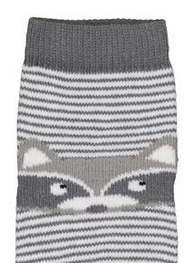 Multicoloured Animal Novelty Socks 4 Pack (0-36 Months)