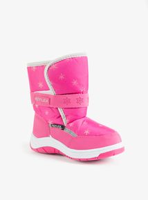 Pink Snowflake Snow Boot (4 Infant - 2 Child)