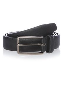 Black Saffino Print Belt
