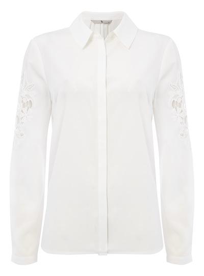 Cream Applique Detail Shirt