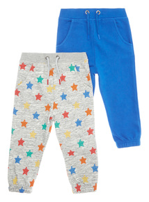 Multicoloured Joggers 2 Pack (9 months-6 years)