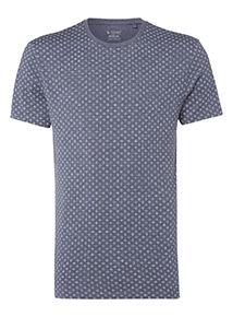 Navy Geometric Print T-Shirt
