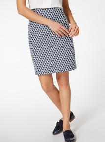 Heart Print Pull On Skirt