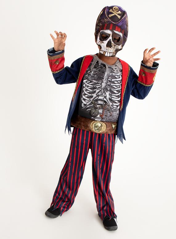 Skeleton Outfit Halloween.Sku Aw18 Halloween Pirate Skeleton Multi Coloured