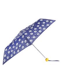 Navy Floral Printed Colour Change Umbrella