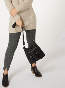 Black Washed Cross Body Bag