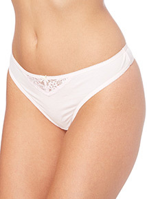 Pink Lace Trim Thongs 5 Pack