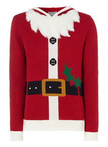 Red Christmas Novelty Santa Outfit