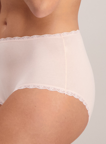 Supersoft Pink & Grey Full Knickers 5 Pack