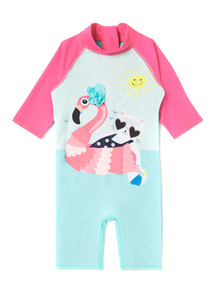 Pink Flamingo Sunsafe UPF 40 (1-6 years)