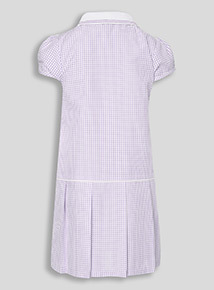 Online Exclusive Lilac Sporty Gingham Dress (3-12 years)