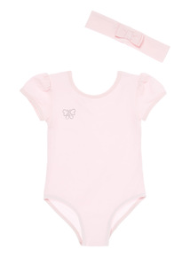 Pink Ballet Leotard & Headband (2-10 years)