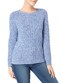 Blue Cable Twist Jumper