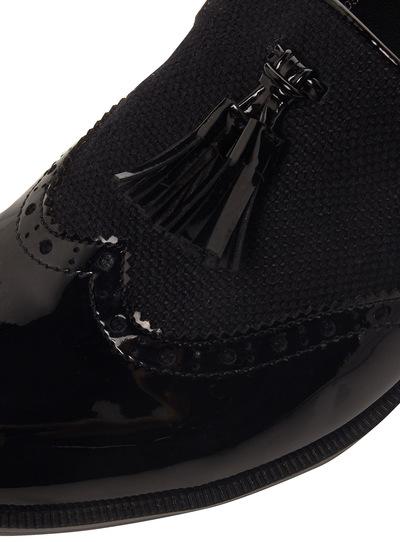 Black Slipper Cut Brogues