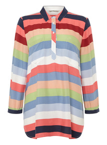 Orange Sorbet Striped Shirt