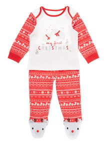 Red My First Christmas Pyjama Set (0-12 months)