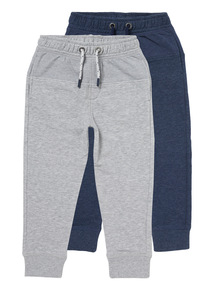 Multicoloured Picot Panel Joggers 2 Pack (3-14 years)
