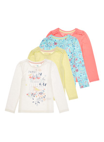Multicoloured Spring Tops 4 Pack (9 months - 6 years)