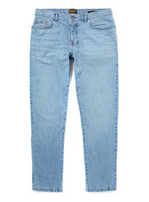 Online Exclusive Summer Blue Tapered Fit Jeans With Stretch
