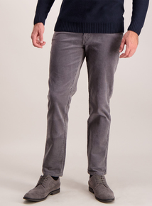 Grey Slim Leg Cords