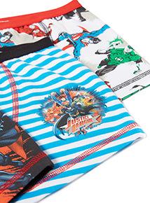 3 Pack Multicoloured Justice League Trunks