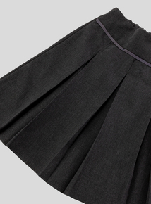 Grey Permanent Pleat Skirt Longer Length 2 Pack