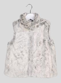 Grey Faux Fur Gilet (3 - 14 years)