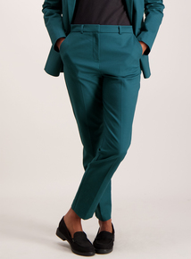 Teal Slim Fit Suit Trousers