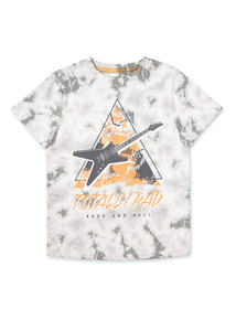 Grey 'Totally Rad' Tie-Dye T-shirt (3-14 years)