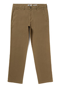 Khaki Straight Fit Chinos With Stretch