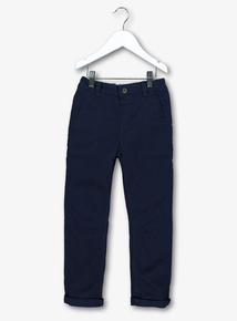 Navy Blue Stretch Chinos