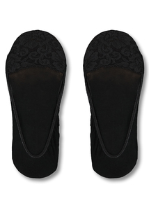893f360de Black Lace Edge No-Show Footsies 2 Pack