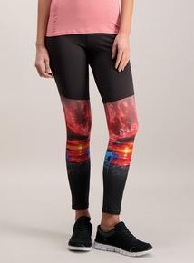 Active Black Sunrise Print Legging