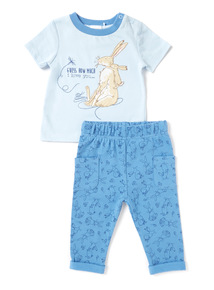 Blue Guess How Much I Love You Jogger Set (Newborn-24 months)