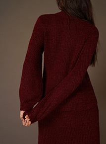 Premium High Neck Bell Sleeve Jumper