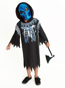 Halloween Black Grim Reaper Costume Set (3-12 years)