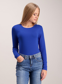 Cobalt Blue Long-Sleeved Jersey Top