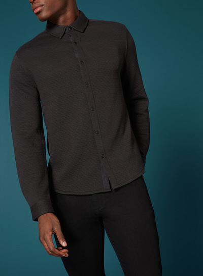 Premium Black Quilted Shirt