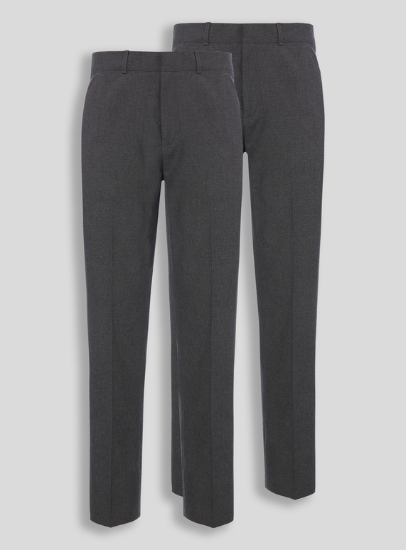 Grey Trousers 2 Pack (10 - 16 years)
