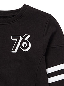 Black 76 Striped Jumper (3-14 years)