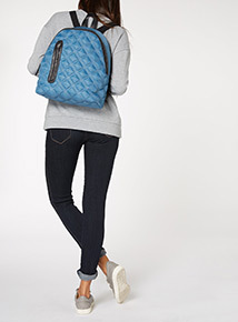 Blue Nylon Back Pack